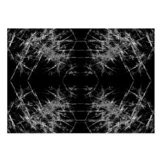 La manera adentro. Arte del fractal. Monocromático Tarjetas De Visita Grandes