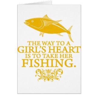La manera al corazón de un chica tarjetas