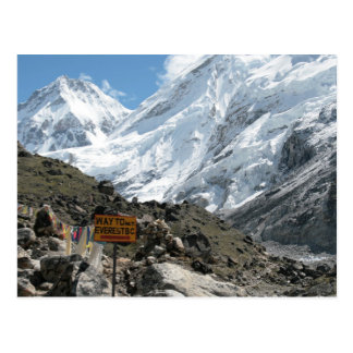 La manera al monte Everest Tarjeta Postal