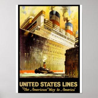 """""""La manera americana a América """" Posters"""
