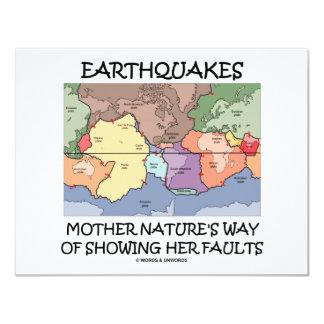 """La manera de la madre naturaleza de los terremotos invitación 4.25"""" x 5.5"""""""