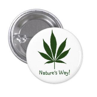 ¡La manera de la naturaleza W01! Botón Pin Redondo De 1 Pulgada