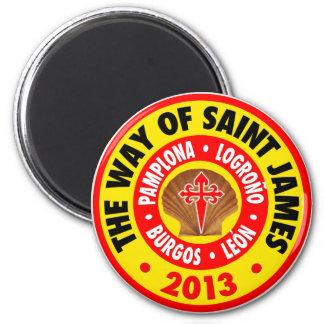 La manera de San Jaime 2013 Imán Redondo 5 Cm