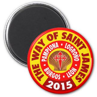 La manera de San Jaime 2015 Imán Redondo 5 Cm