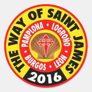 La manera de San Jaime 2016 Pegatina Redonda