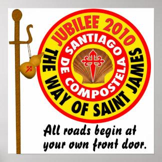 La manera de San Jaime a Santiago de Compostela Póster