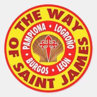 La manera de San Jaime Pegatina Redonda
