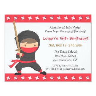 """La manera del Ninja embroma invitaciones de la Invitación 4.25"""" X 5.5"""""""