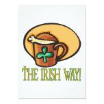 La manera irlandesa invitación 12,7 x 17,8 cm