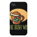 La manera irlandesa iPhone 4/4S fundas