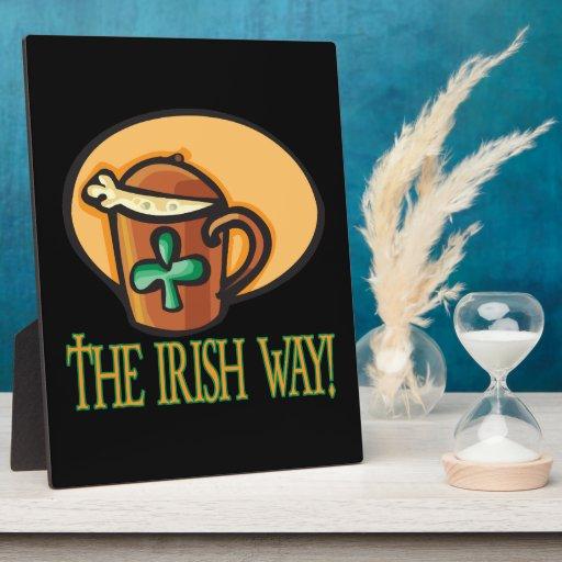 La manera irlandesa placas de madera