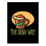 La manera irlandesa postal
