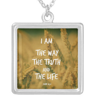 La manera la verdad el verso de la biblia de la colgante cuadrado