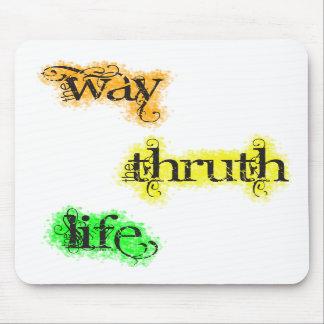 La manera la verdad el verso de la biblia del 14:6 alfombrillas de raton