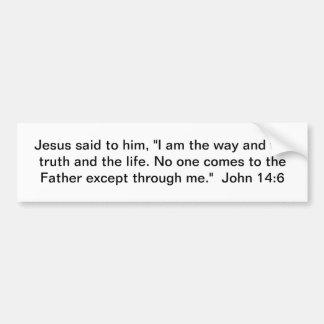 La manera, la verdad, y la vida pegatina para auto