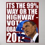 La manera o la carretera Obama 2012 del 99% Poster