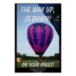 La manera para arriba está abajo de poster
