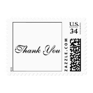 La manera simple de la postal de decir le agradece sellos postales