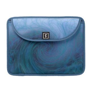 La manga azul grande de la aleta del carrito de la funda macbook pro
