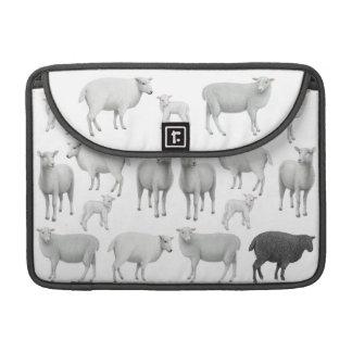 La manga de la aleta del carrito de las ovejas funda macbook pro