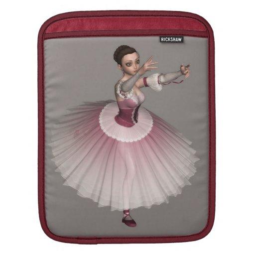 La manga del ordenador portátil de la bailarina manga de iPad