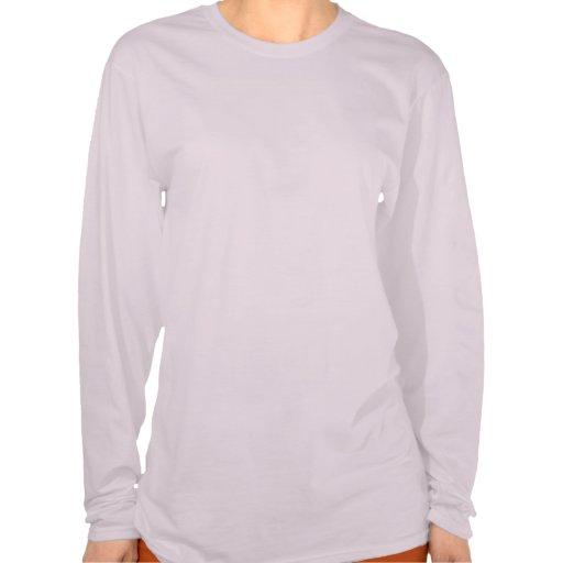 La manga larga de las señoras camiseta