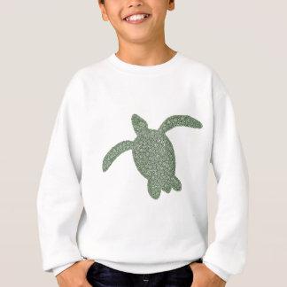 la manga larga de los niños de la tortuga de mar polera
