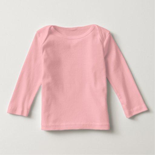 La manga siempre larga más linda del bebé camisetas