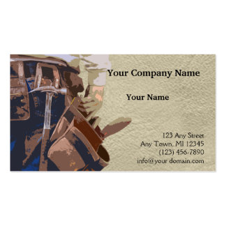 La manitas equipa la acuarela plantilla de tarjeta de visita