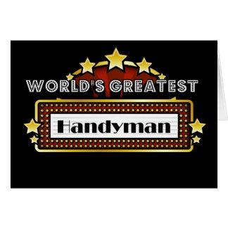 La manitas más grande del mundo tarjeta de felicitación