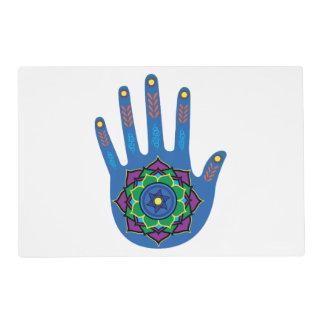 La mano curativa tapete individual