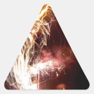 La mano de dios pegatina triangular
