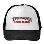 La mano de la cubierta más grande del mundo gorras