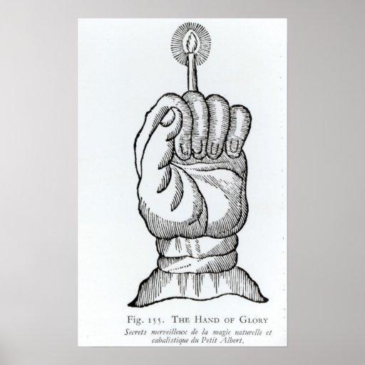 La mano de la gloria impresiones