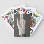 La mano de la justicia, del tesoro de St. Deni Baraja Cartas De Poker