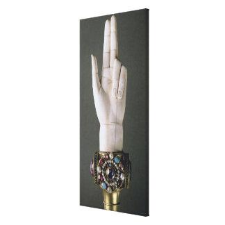 La mano de la justicia, del tesoro de St. Deni Lienzo Envuelto Para Galerías