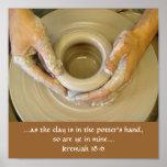 La mano del alfarero del 18:6 de Jeremiah Impresiones