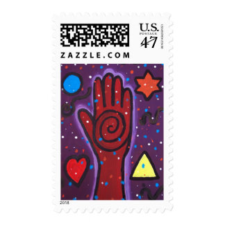 La mano del curador sellos postales