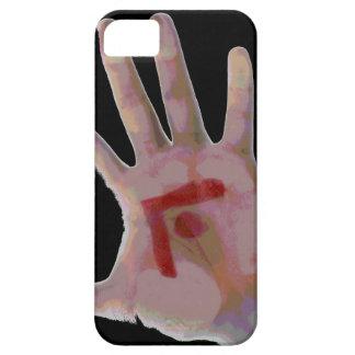 La mano del hombre iPhone 5 carcasas
