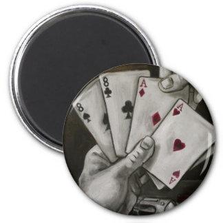 La mano del hombre muerto imán redondo 5 cm