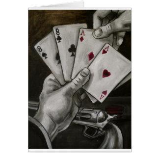 La mano del hombre muerto tarjeta de felicitación