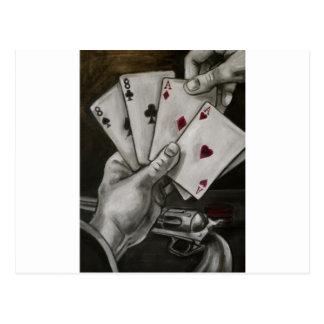 La mano del hombre muerto postales