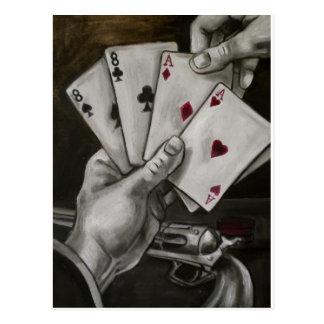 La mano del hombre muerto tarjetas postales