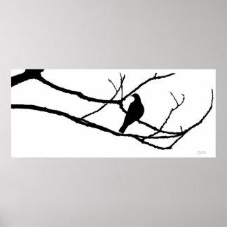 La mano del invierno y la paloma de la primavera póster