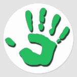 La mano del niño pegatinas redondas