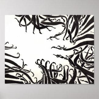 La mano en los tentáculos póster