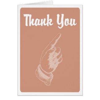 La mano tarjeta de felicitación