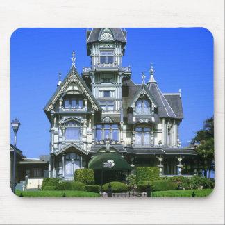 La mansión de Carson en Eureka, California Alfombrillas De Raton