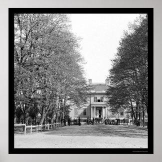 La mansión del gobernador en Richmond, VA 1865 Impresiones