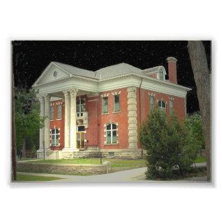 La mansión del gobernador histórico de Wyoming Arte Fotográfico